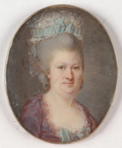 """Antoine VESTIER - Miniature - """"Portrait of a noblewoman"""", 1775/80"""