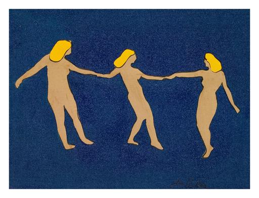 Marco LODOLA - Painting - Le tre grazie