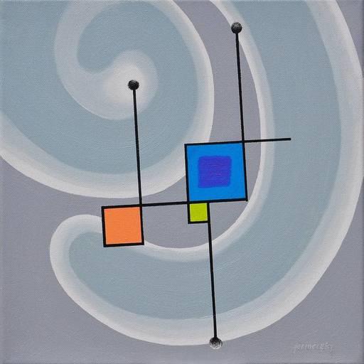 Istvan JARMECZKY - Painting - PERPETUM MOBILE 4