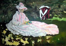 Mark KOSTABI - Pintura - Omaggio a Manet