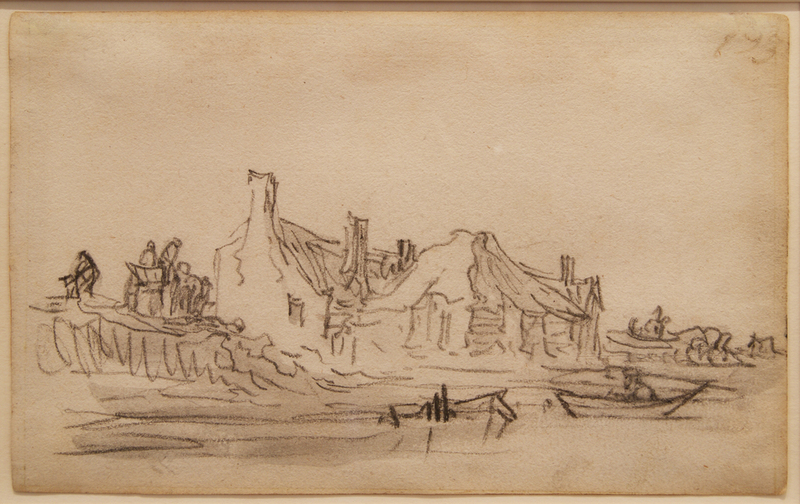 Jan Jozefsz. VAN GOYEN - Dessin-Aquarelle - Page from Van Goyen's sketchbook of 1650 - 1651