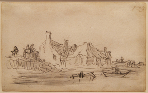 Jan Jozefsz. VAN GOYEN, Page from Van Goyen's sketchbook of 1650 - 1651
