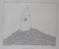 Paul FLORA - Drawing-Watercolor - Elfenbeinturm