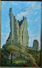 Clément PUJOL DE GUASTAVINO - Pittura - Les ruines de Crozant