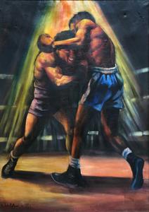 Renato BERTOLONI - Peinture - Pugilatori, 1953