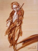 Claude WEISBUCH - Pintura - Violoniste