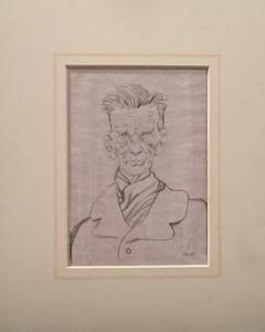 Tullio PERICOLI - Dibujo Acuarela - Ritratto di Samuel Beckett
