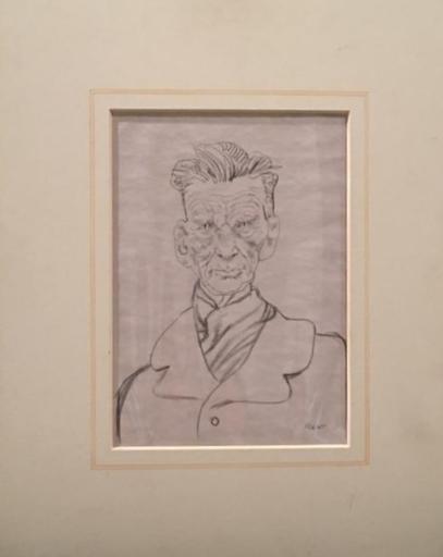 Tullio PERICOLI - Zeichnung Aquarell - Ritratto di Samuel Beckett