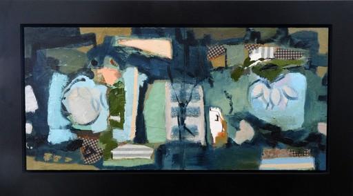 Jennifer HORNYAK - Pintura - Diptych in Blue and Green