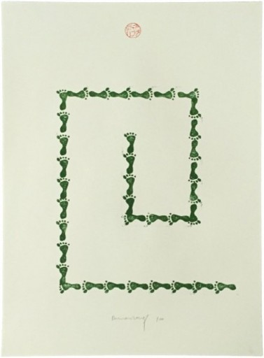 Richard LONG - Print-Multiple - Untitled (from Artists Against Torture portfolio)