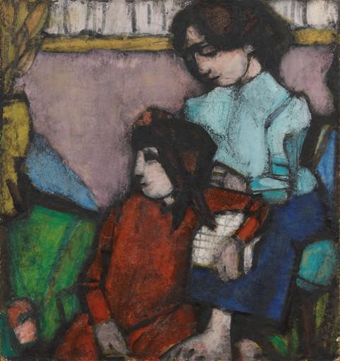 Domenico CANTATORE - Pintura - Donna e ragazza II