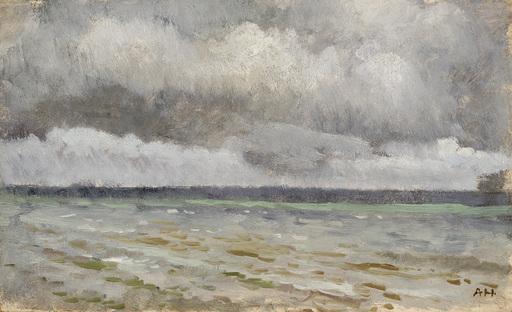 Adolf HIREMY-HIRSCHL - Peinture - Seestück