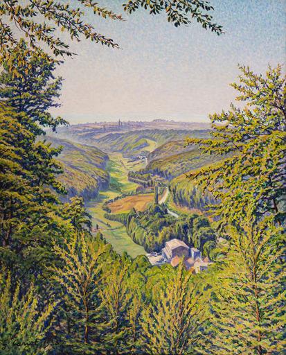 Gustave CARIOT - Peinture - Vallée en Rhénanie