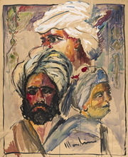 Aldo MONDINO - Peinture - Figure orientaliste