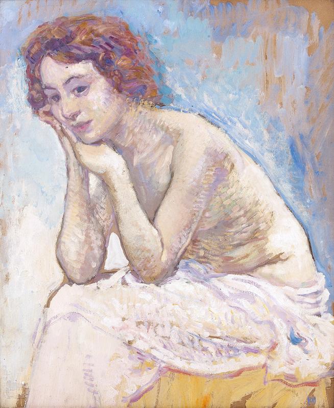 Théo VAN RYSSELBERGHE - Peinture - Le modèle