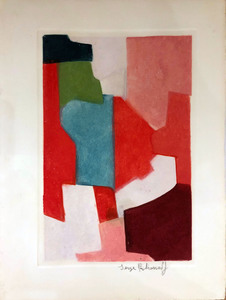 Serge POLIAKOFF - Grafik Multiple - Composition rouge et verte n° XXIII