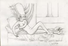 Giuseppe VENEZIANO - Drawing-Watercolor - La Venere di Springfield (0035-D)