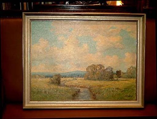 Hermann Heinrich BOHLENS - Painting - Norddeutsche Flußlandschaft