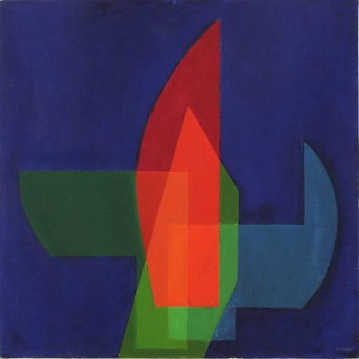 Augusto GARAU - Pittura - Il vetro giallo