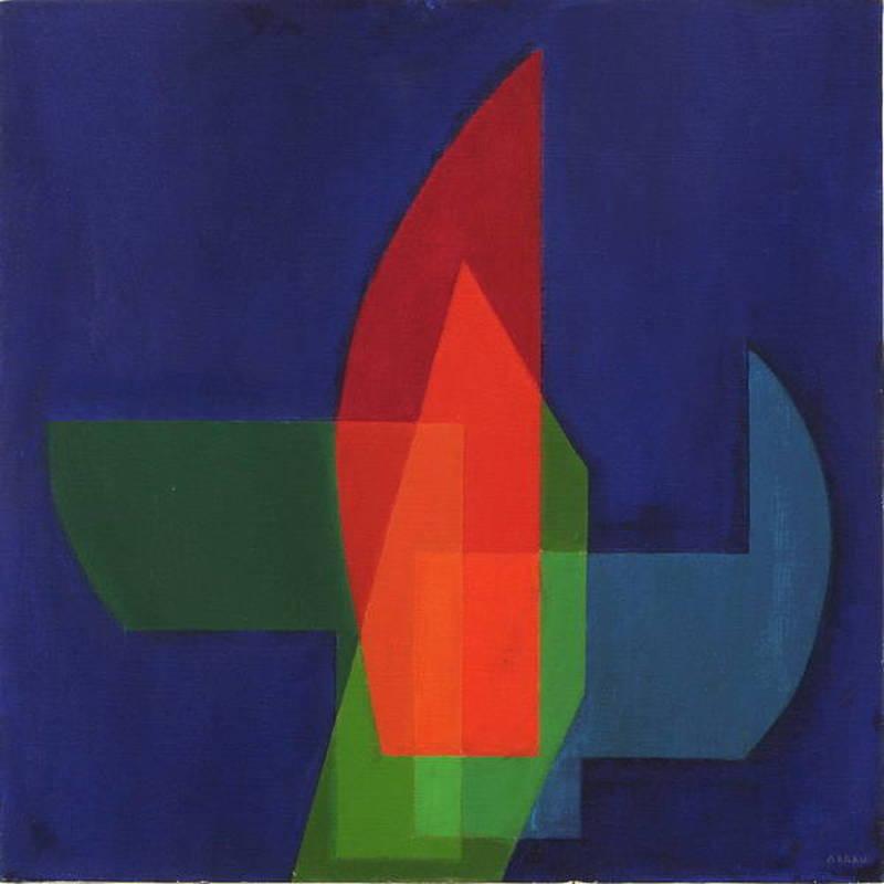 Augusto GARAU - Peinture - Il vetro giallo