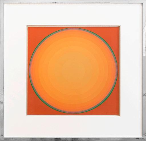 Lothar QUINTE - 版画 - Quasar gelb-orange