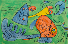 Joan MIRO - Estampe-Multiple - Father Ubu's Sleep III, from: Series for King Ubu