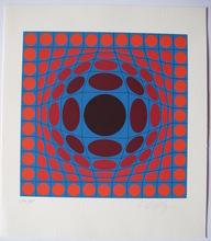 Victor VASARELY (1906-1997) - SÉRIGRAPHIE SIGNÉE AU CRAYON NUM/350 HANDSIGNED SILKSCREEN