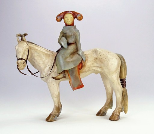 Sandra COURLIVANT - Sculpture-Volume - Princesse mongole