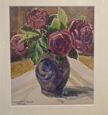 André DESLIGNIERES - Dessin-Aquarelle - Roses