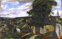 Leon Schulman GASPARD - Painting - European town scene