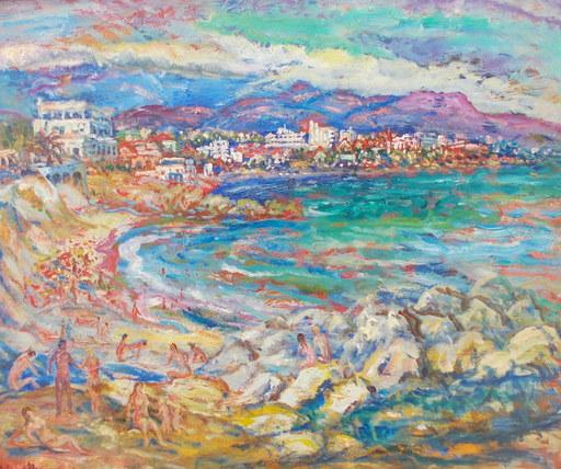 Berthe SOURDILLON - Painting - Cagnes sur mer