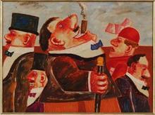 Franz BORGHESE - Peinture - IL FUMATORE