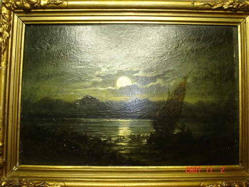 Albin MATTENHEIMER - Pintura - clair de lune