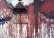Hermann NITSCH - Peinture - Übermalte Bild