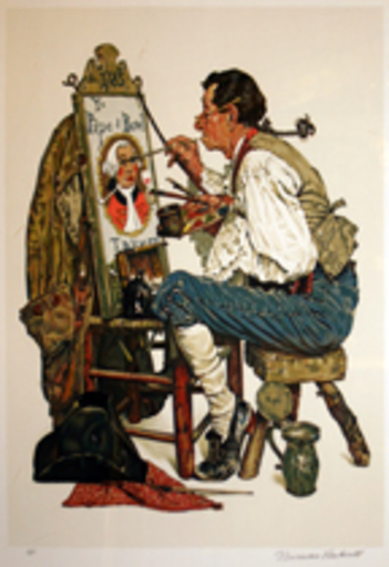 Norman Perceval ROCKWELL - Grabado - Ye Pipe and Bowl