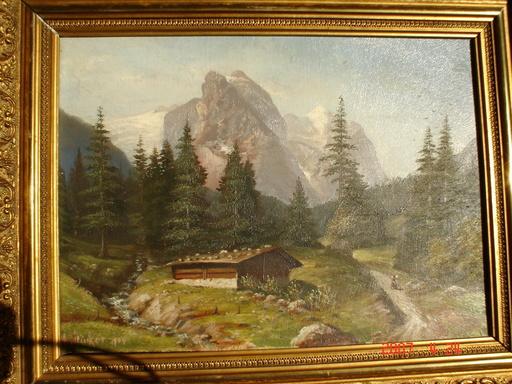 A. STÜCKER - Pintura - la montagne