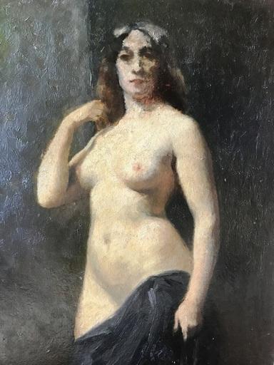 Théophile Alexandre STEINLEN - Pintura - Nude Lady