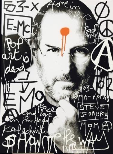 KOKIAN - Peinture - the steve's job ...Pop art is Dead