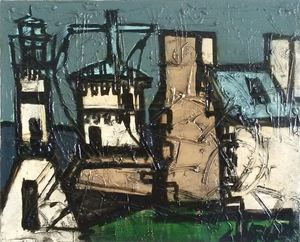 Claude VENARD - Painting - Le Sémaphore