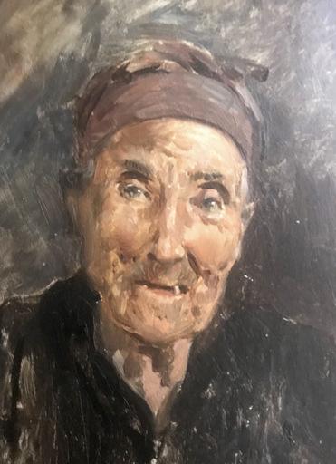 Ulpiano CHECA Y SANZ - Painting - Dame âgée  / Anciana