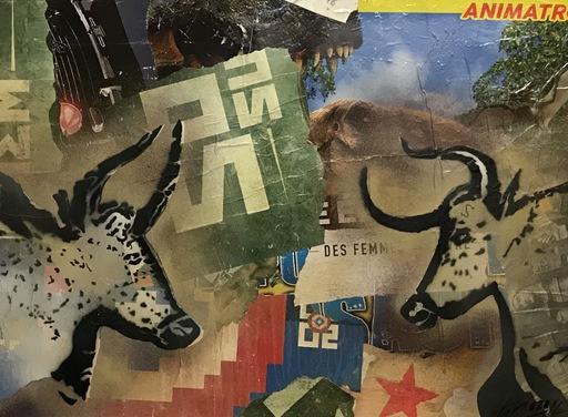 KIKI - Gemälde - l'Après Histoire - 2 last Cows