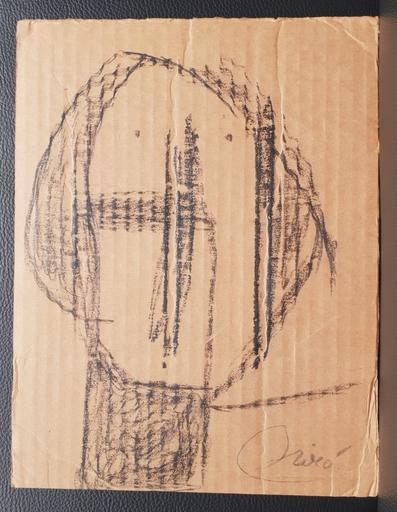 Joan MIRO - Dibujo Acuarela - tête - Head
