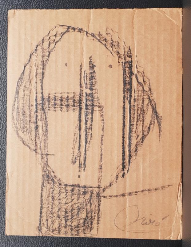 Joan MIRO - Drawing-Watercolor - tête - Head