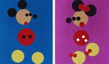 Damien HIRST (1965) - Mickey and Minnie Glitter Set