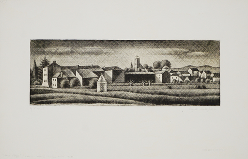 Kiyoshi HASEGAWA - Print-Multiple - Vieux village du Midi (Mouans-Sartoux)