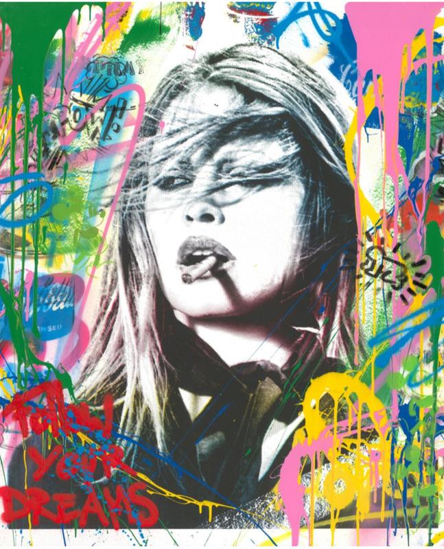 MR BRAINWASH - Gemälde - Brigitte Bardot