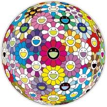 Takashi MURAKAMI - Estampe-Multiple - Flowerball: Multicolor