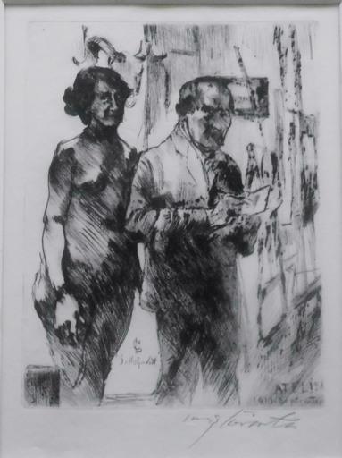 Lovis CORINTH - Grabado - Im Atelier