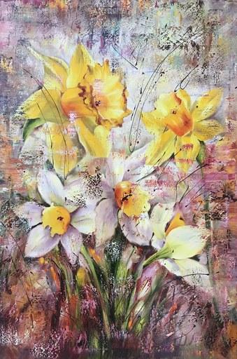 Diana MALIVANI - Pittura - In the Embrace of the Sun