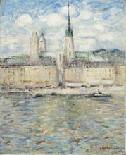 Gustave LOISEAU - Painting - La Seine à Rouen
